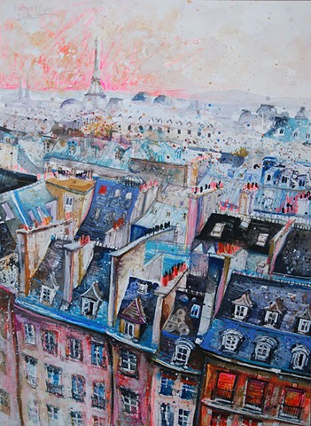 'ROOFTOPS & RIPPLES, PARIS' Sold