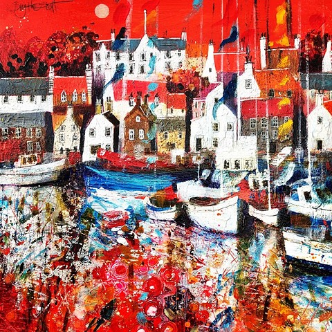 'ALL AFLUTTER IN ANSTRUTHER' Sold