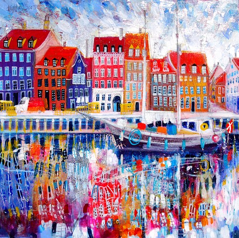 'WATER DANCE, COPENHAGEN' Sold