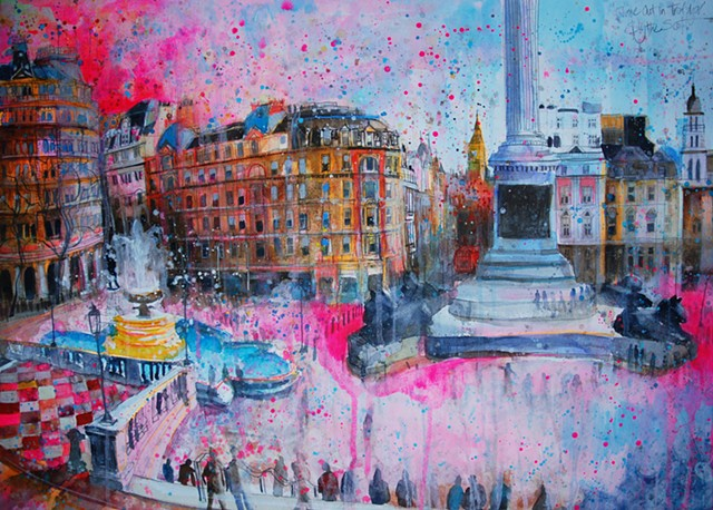 'TIME OUT, TRAFALGAR SQUARE'