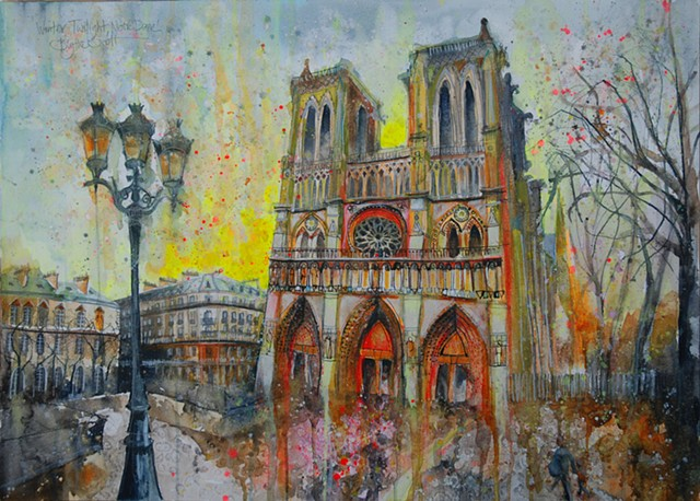 'WINTER TWILIGHT, NOTRE DAME'