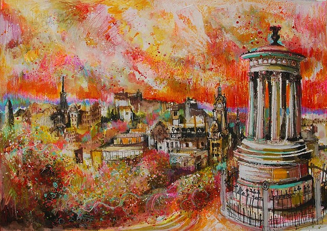 'WILD SKY, CALTON HILL, EDINBURGH' Sold
