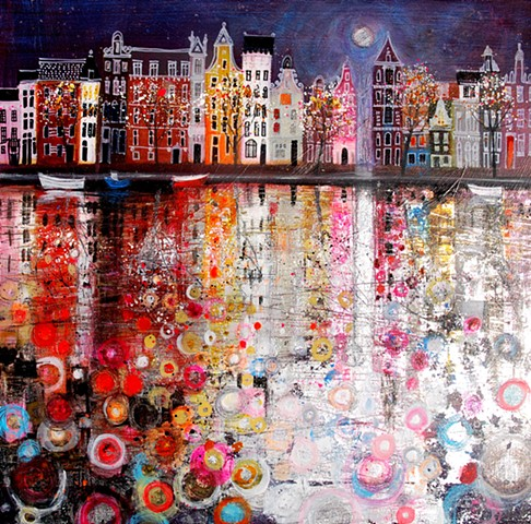 'MOONLIGHT ON AMSTERDAM' Sold