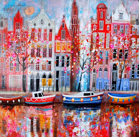 'BLOSSOMS IN AMSTERDAM' Sold