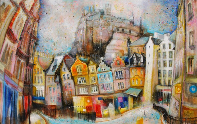 'GOING TO THE GRASSMARKET' Sold