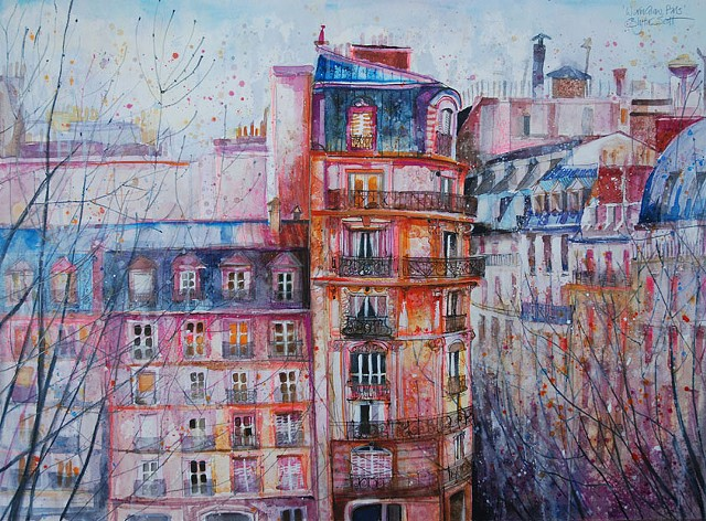 'EVENING GLOW, PARIS' Available