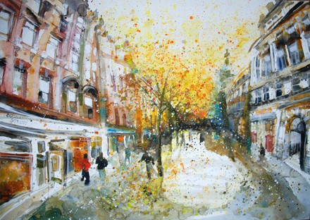 'FALLING LEAVES, BUCHANAN STREET' Available