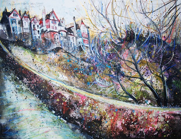 'SWEEPING LINES ON RAMSAY GARDENS' Available