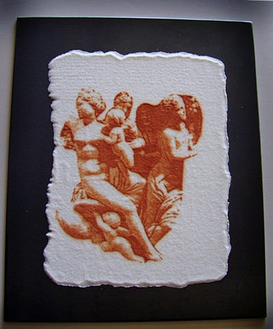 Powder printed statue images from Pergamon, Turkey