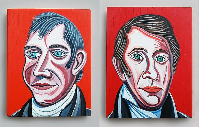 Lewis and Clark   Merriwether Lewis - left  William Clark - right