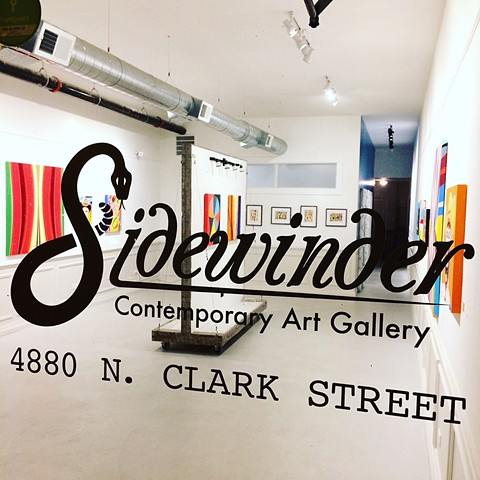 "Sidewinder Gallery - Chicago. Solo show - ""The Golden Claw"" November 2017"