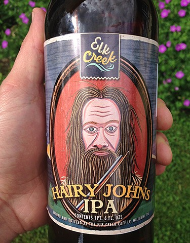 Hairy John's - IPA   2nd label for Elk Creek Cafe and Aleworks 2014