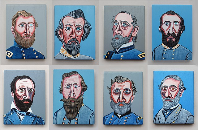 Civil War Generals - set of 8