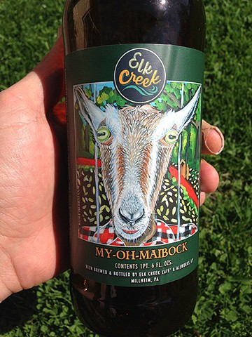 My Oh Maibock - label for Elk Creek Cafe and Aleworks - 2014