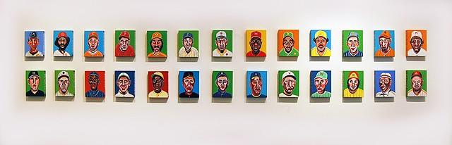 """Baseball Alphabet"" at Firecat Projects, Chicago - Oct. 2014"