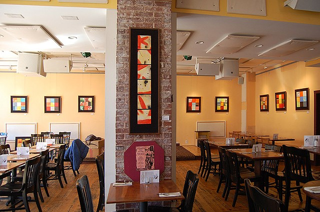 Squares of Light installed at  Elk Creek Cafe + Aleworks Millheim, PA 2012