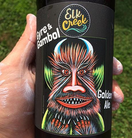 Gyre and Gambol Golden Ale for Elk Creek Cafe + Aleworks