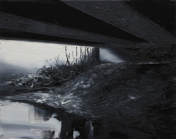 Under the bridge series, oil painting
