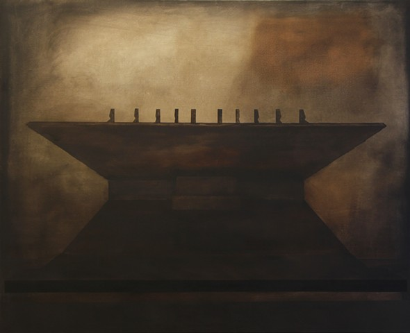 Stadium , right section 120x180 cm