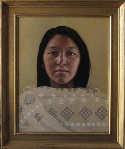 Girl from Tesuque Pueblo