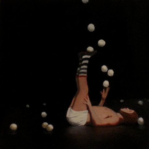 juggler 12x12 oil