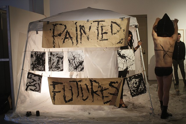 Painted Futures  San Diego Art Institute, San Diego, CA 4 hour duration, March 24th, 2017 Documentation by Lyndsay Bloom