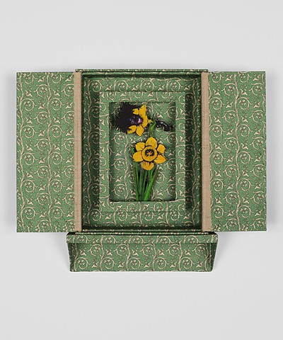 Shervone Neckles, artist books, wallpaper, flowers, identity, race, black artist, yellow wallpaper, charlotte perkins, Jamaica Kincaid, Grenada, Kitchen Area, Granny's Kitchen Area, Brooklyn Artist, Queens Artist, Skowhegan artist, Center for Book Arts,