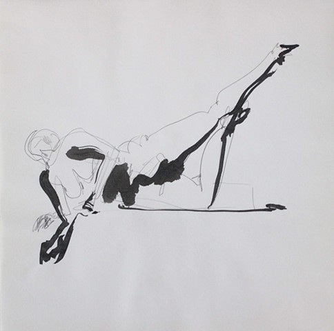 Reclining Nude with Raised Leg