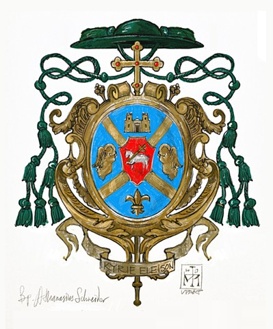 Arms of a Roman Catholic bishop. © 2019, Anatole Upart.