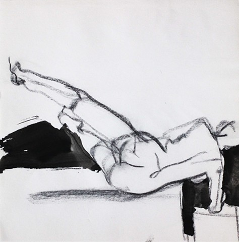 Nude Reclined with Lifted Legs