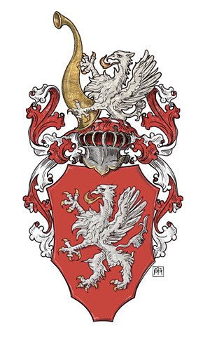 Family arms of the Zukowski, herbu Gryf