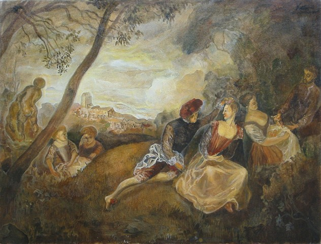 Copy of Watteau's painting