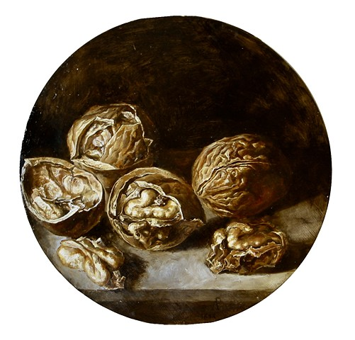Walnuts, copy of Antonio de Pereda's still life.