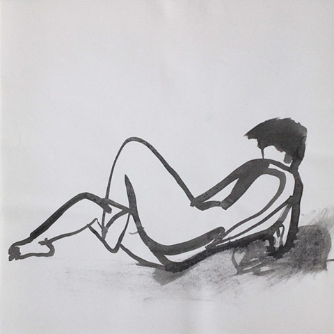 Nude Reclined, With Leg Bent