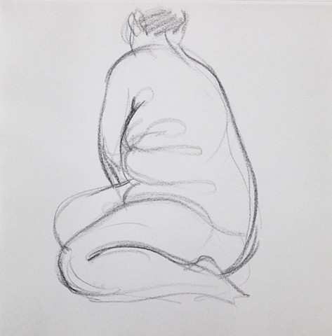 Nude Sitting, Profile