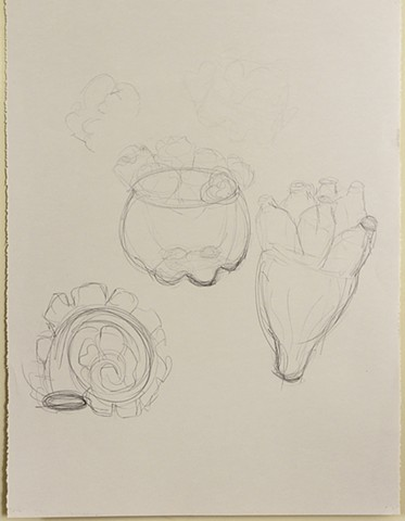 preliminary sketches for plaster casts 2