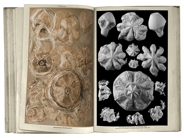 book illustration using cast plaster sculptures