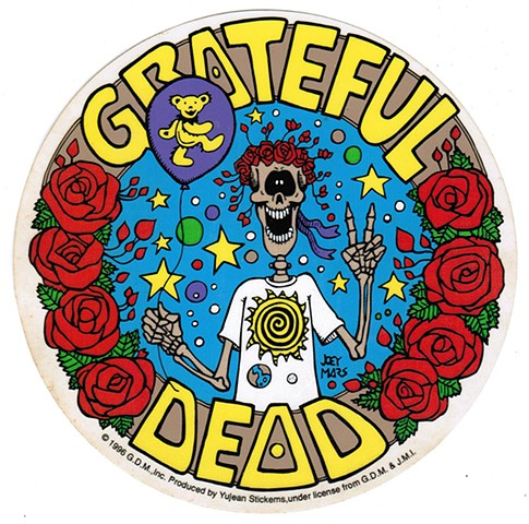 Grateful Dead: Bear Balloon Sticker by Joey Mars