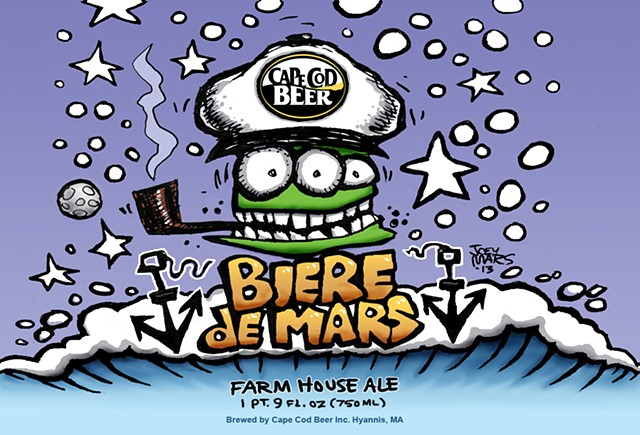 Label for Bier de Mars produced by Cape Cod Beer