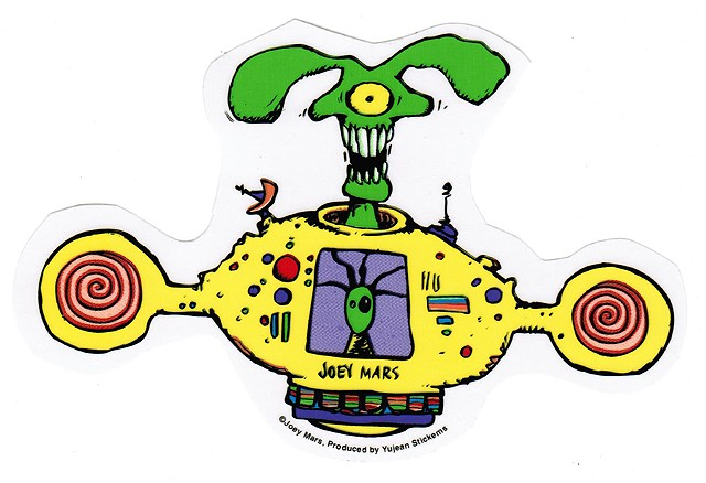 Spaceship Sticker by Joey Mars