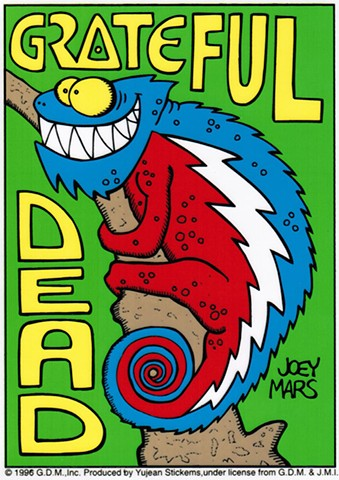 Grateful Dead: Lizard Stealie Sticker by Joey Mars