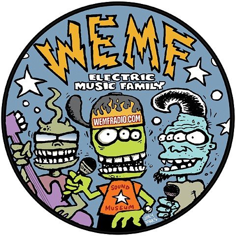 WEMF Radio promo sticker