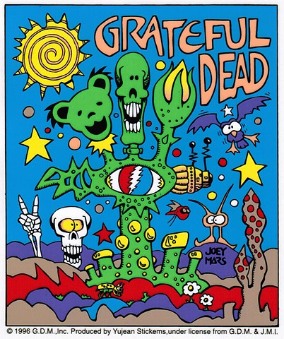 Grateful Dead: Cyber Dead Sticker by Joey Mars