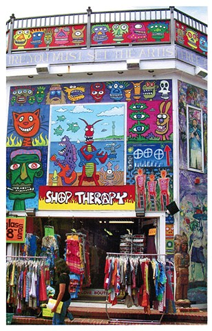 Shop Therapy Mural Provincetown. Old location 2010
