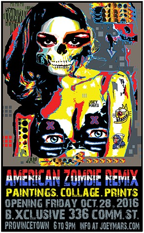 American Zombie Remix show poster by Joey Mars