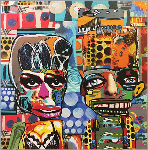 """Power Couple"" original collage by Joey Mars"