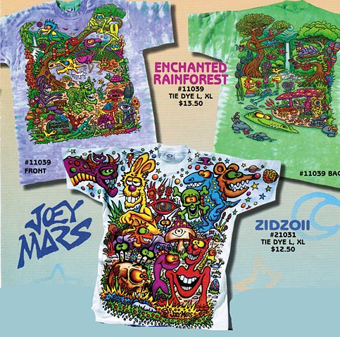 Enchanted Rain Forest and Zidzoii T shirt Designs