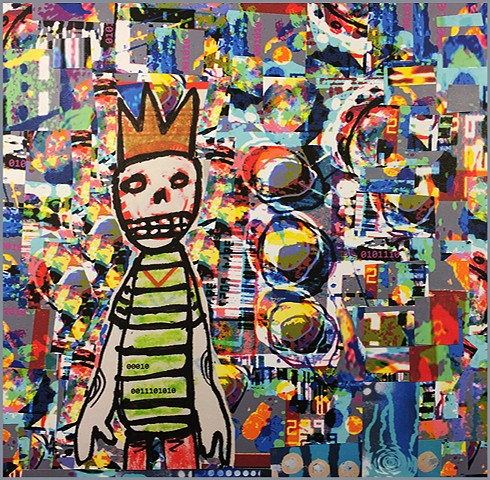 Jimmy was a Skateboard Kid collage by Joey Mars