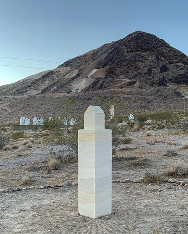 Memorial for Queer Rhyolite, a temporary monument to dreams in the dust