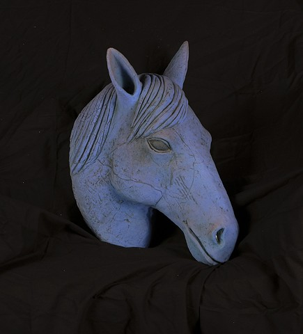 Ceramic Horse Head by Marianne Levy